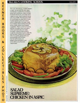 McCall's Cooking School Recipe Card: Salads 5 - Chicken Salad In Aspic (Replacement McCall's Reci...