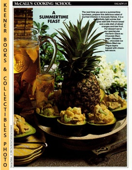McCall's Cooking School Recipe Card: Salads 15 - Curried-Chicken Salad In Avocado Halves (Replace...