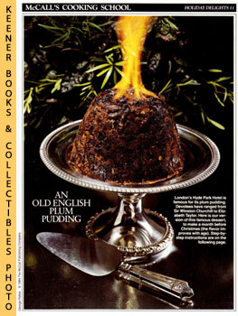 McCall's Cooking School Recipe Card: Holiday Delights 11 - English Plum Pudding (Replacement McCa...