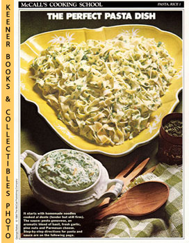 McCall's Cooking School Recipe Card: Pasta, Rice 1 - Noodles With Pesto Sauce (Replacement McCall...