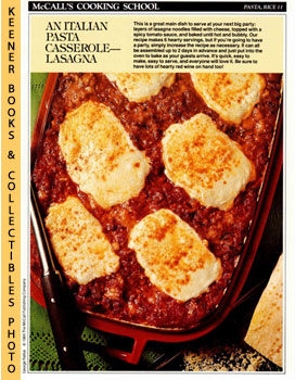 McCall's Cooking School Recipe Card: Pasta, Rice 11 - Lasagna (Replacement McCall's Recipage or R...