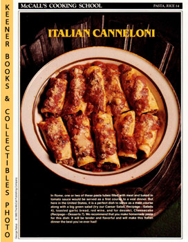 McCall's Cooking School Recipe Card: Pasta, Rice 14 - Canneloni (Replacement McCall's Recipage or...