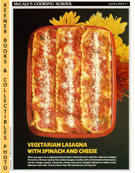 McCall's Cooking School Recipe Card: Pasta, Rice 17 - Lasagna Florentine (Replacement McCall's Re...
