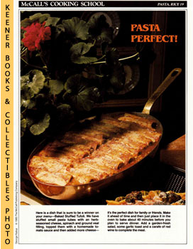McCall's Cooking School Recipe Card: Pasta, Rice 19 - Baked Stuffed Tufoli (Replacement McCall's ...