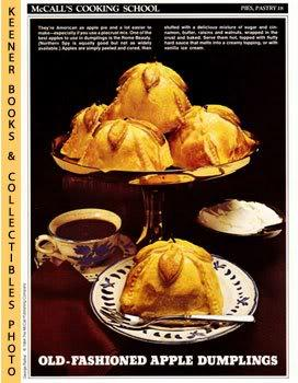 McCall's Cooking School Recipe Card: Pies, Pastry 18 - Apple Dumplings With Hard Sauce (Replaceme...