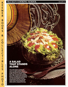 McCall's Cooking School Recipe Card: Salads 10 - Cobb Salad With Russian Dressing (Replacement Mc...