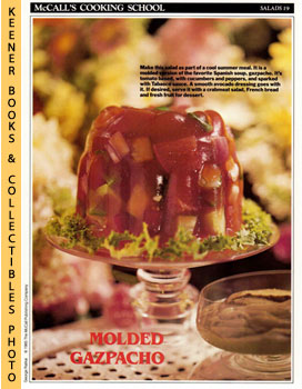 McCall's Cooking School Recipe Card: Salads 19 - Molded Gazpacho Salad With Avocado Dressing (Rep...