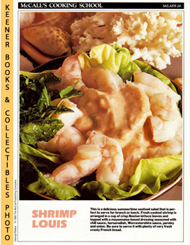 McCall's Cooking School Recipe Card: Salads 20 - Shrimp Louis (Replacement McCall's Recipage or R...