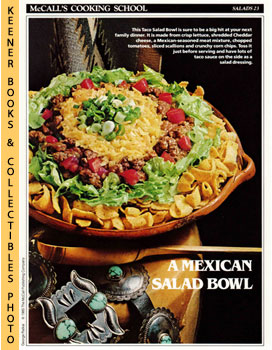 McCall's Cooking School Recipe Card: Salads 23 - Taco Salad Bowl (Replacement McCall's Recipage o...