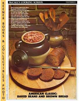 McCall's Cooking School Recipe Card: Vegetables 2 - Baked Beans With Boston Brown Bread (Replacem...