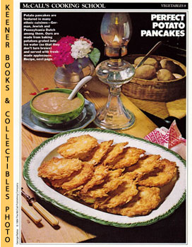 McCall's Cooking School Recipe Card: Vegetables 8 - Potato Pancakes With Rosy Applesauce (Replace...