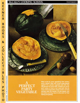 McCall's Cooking School Recipe Card: Vegetables 9 - Baked Acorn Squash With Apples (Replacement M...