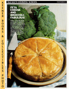 McCall's Cooking School Recipe Card: Vegetables 11 - Broccoli-And-Cheese Pie (Replacement McCall'...