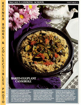 McCall's Cooking School Recipe Card: Vegetables 21 - Baked Eggplant Creole (Replacement McCall's ...