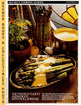 McCall's Cooking School Recipe Card: Vegetables 25 - Asparagus With Hollandaise (Replacement McCa...