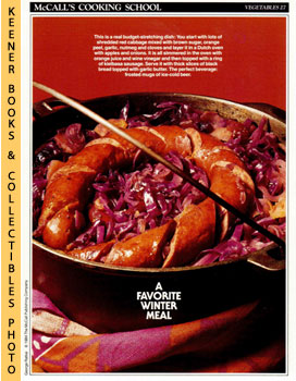 McCall's Cooking School Recipe Card: Vegetables 27 - Red Cabbage With Kielbasa (Replacement McCal...