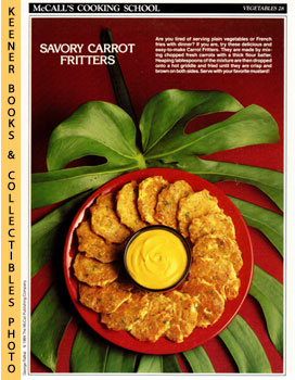 McCall's Cooking School Recipe Card: Vegetables 28 - Carrot Fritters (Replacement McCall's Recipa...