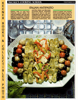 McCall's Cooking School Recipe Card: Vegetables 29 - Antipasto-Style Vegetable Platter (Replaceme...