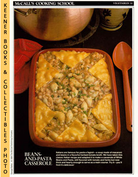 McCall's Cooking School Recipe Card: Vegetables 31 - White Beans With Pasta (Replacement McCall's...