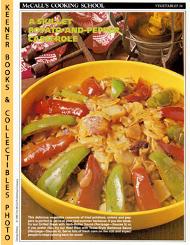 McCall's Cooking School Recipe Card: Vegetables 36 - Skillet Potatoes With Savory Sweet Peppers (...