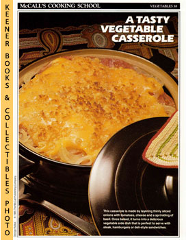 McCall's Cooking School Recipe Card: Vegetables 38 - Tomato-Onion-Cheese Casserole (Replacement M...