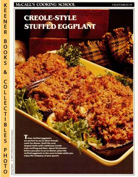 McCall's Cooking School Recipe Card: Vegetables 39 - Stuffed Eggplant Creole (Replacement McCall'...