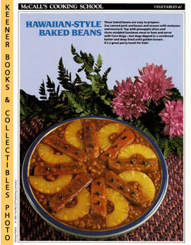 McCall's Cooking School Recipe Card: Vegetables 42 - Patio Baked Beans With Corn Dogs (Replacemen...
