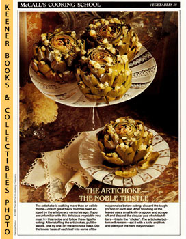 McCall's Cooking School Recipe Card: Vegetables 48 - Stuffed Artichokes With Mayonnaise (Replacem...