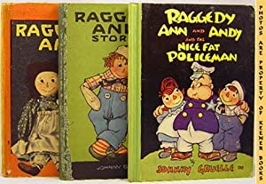 Three Raggedy Ann / Andy Books In Original Slipcase * Raggedy Ann And Andy And The Nice Fat Polic...