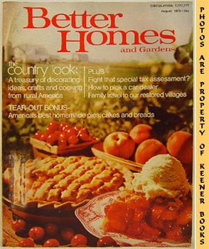 Better Homes And Gardens Magazine (August 1972 Vol. 50, No. 8 Issue)