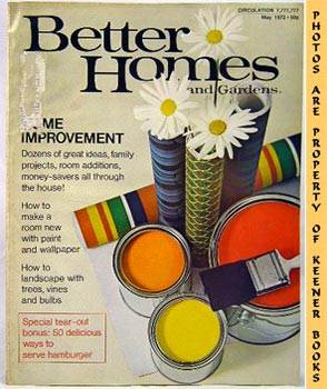 Better Homes And Gardens Magazine (May 1972 Vol. 50, No. 5 Issue)
