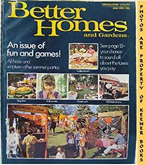 Better Homes And Gardens Magazine (June 1970 Vol. 48, No. 6 Issue)