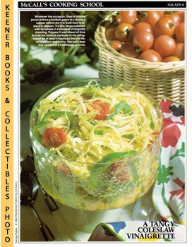 McCall's Cooking School Recipe Card: Salads 6 - Coleslaw With Tomatoes (Replacement McCall's Reci...