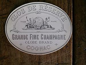 Vieille étiquette de bouteille de COGNAC CLOS: auteur non précisé