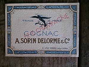 Vieille étiquette de bouteille de COGNAC A.: auteur non précisé