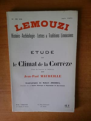 LEMOUZI histoire-archéologie-lettres & traditions limousines juin 1971: Jean-Paul MAUREILLE