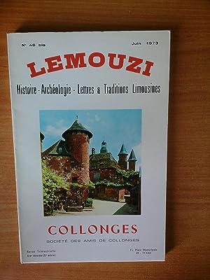 LEMOUZI histoire-archéologie-lettres & traditions limousines juin 1973: collectif