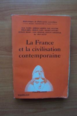 LA FRANCE ET LA CIVILISATION CONTEMPORAINE: Paul VALERY, Georges