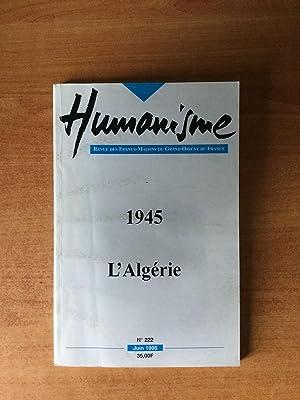 HUMANISME revue des Francs-maçons du grand Orient: collectif