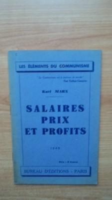 SALAIRES PRIX ET PROFITS: Karl MARX