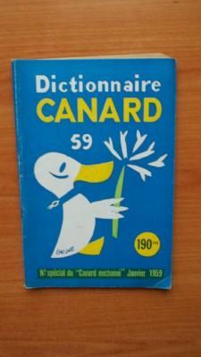 """DICTIONNAIRE CANARD 59 n° spécial du """"canard: collectif"""
