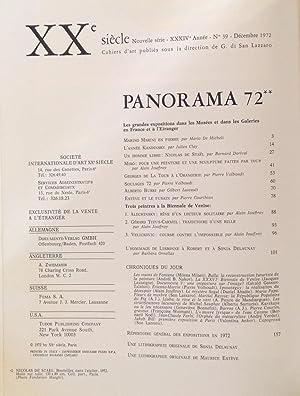 XX SIECLE. Panorama 72** Nouvelle serie XXXIV