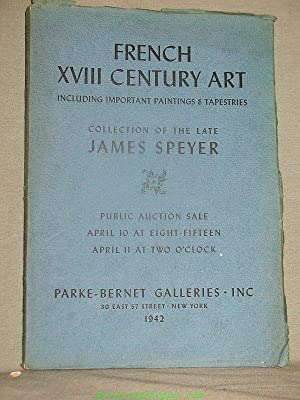 DISTINGUISHED PAINTINGS By Nattier, Largilliere, Huet, Robert: Parke-Bernet Galleries