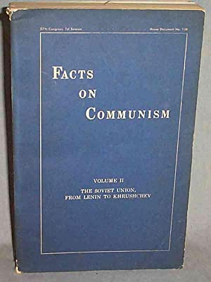 FACTS ON COMMUNISM: (VOL. 2 (ONLY)): THE: US Committee on