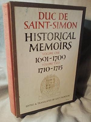HISTORICAL MEMOIRS OF THE DUC DE SAINT-SIMON: Louis de Rouvroy
