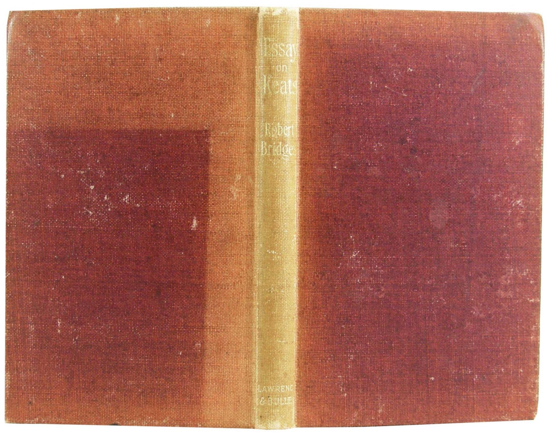 john keats a critical essay by bridges robert privately printed john keats a critical essay bridges robert