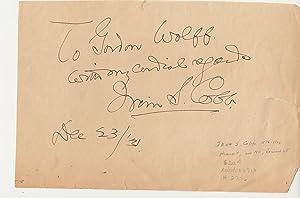 Autograph: Cobb, Irvin S.