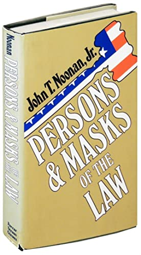 Persons and Masks of the Law. Cardozo,: Noonan, John T.