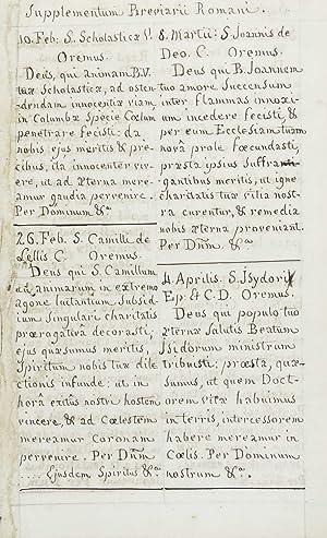 Horae Diurnae Breviarii Romani, Ex Decreto Sacro-Sancti Concilii Tridentini Restitutum, PII V. Pont...