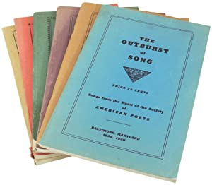 The Outburst of Song: Songs from the Heart of the Society of American Poets. 6 Issues. 1939-1940,...